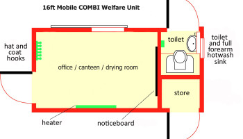 16ft Mobile Combi Welfare Unit Plan copy