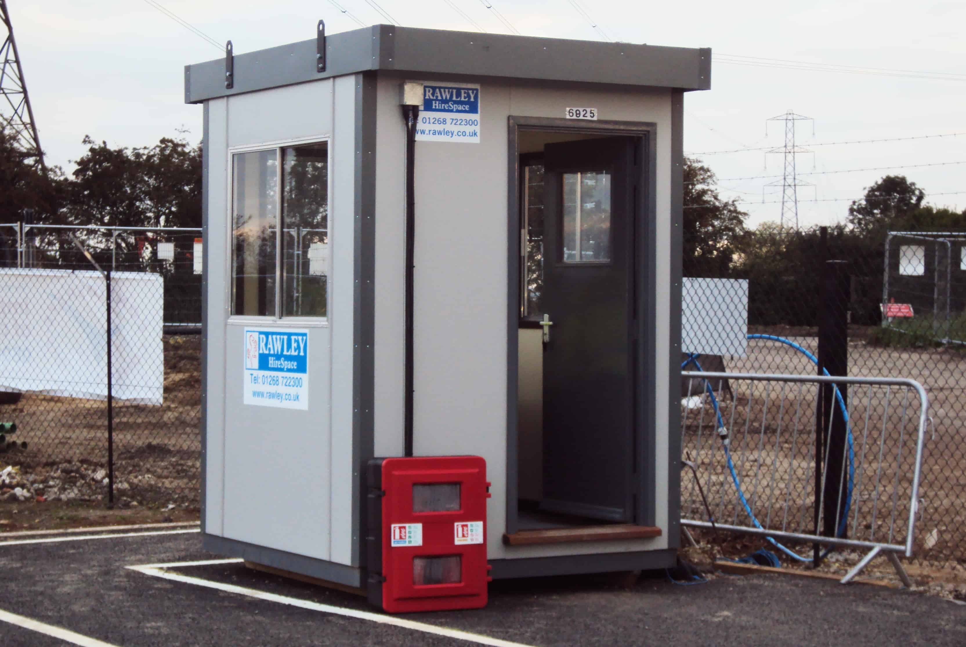 Gatehouse and security guard hut hire rawley