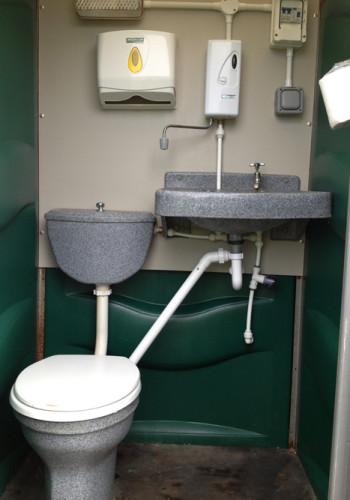 Single mains toilet hire image