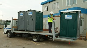 Toilet hire delivery